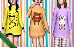 Sims 3 outfit, fashion, clothing, female, sweater, child