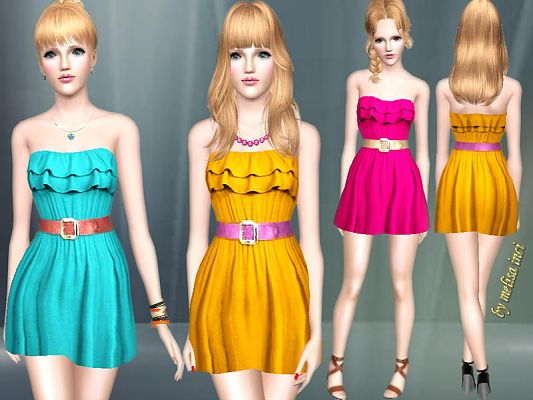 Sims 3 outfit, fashion, clothing, female, dress, casual