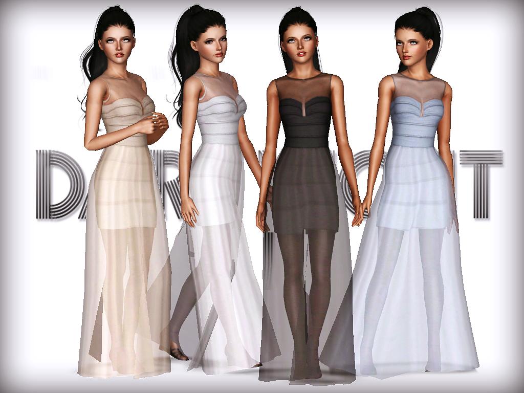 Sims 3 long dress net