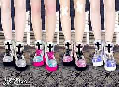 Sims 3 shoes, sneakers, fashion, female