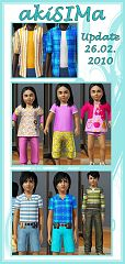 Sims 3 child, children, kids, top, bottom, outfit, cloth, clothes, fashion