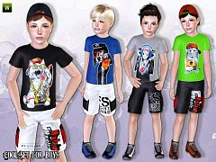 Sims 3 outfit, clothing, male, child
