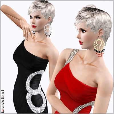 Sims 3 earrings, accessory, jewelry
