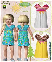 Sims 3 colorful, dress, toddler, cloth, clothes, fashion