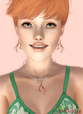 Sims 3 earrings, accessory, jewelry, necklace