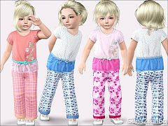 Sims 3 pyjama, toddler, sleepwear