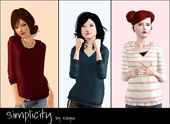 Sims 3 top, female, sweater, clothing
