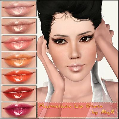 Sims 3 lip, lipstick, gloss, makeup, balm