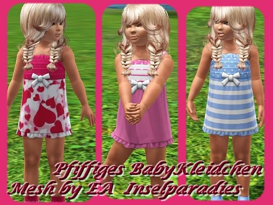 Sims 3 outfit, fashion, clothing, female, dress, toddler