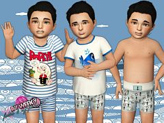 Sims 3 clothing, toddler, casual