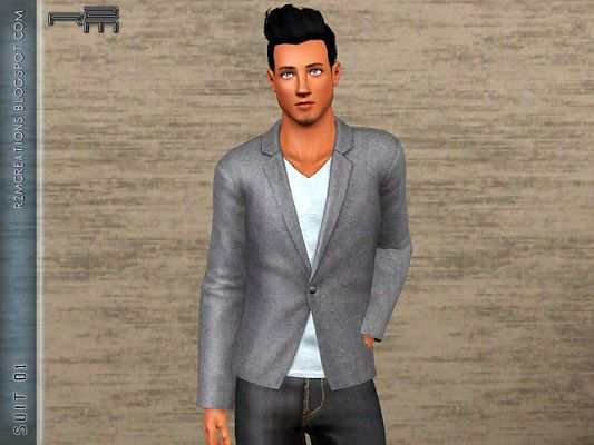 Sims 3 suit, jacket, clothing, males