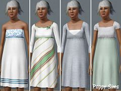 Sims 3 clothes, fashion, elder, dress