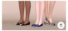 Sims 3 shoes, flats, fashion, female
