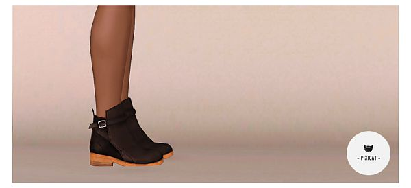 Sims 3 boots, shoes, flats, fashion, female, sims3