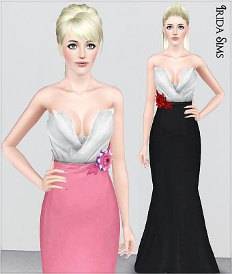 Sims 3 dress, outfit, clothing, female, fashion, formal, sims3