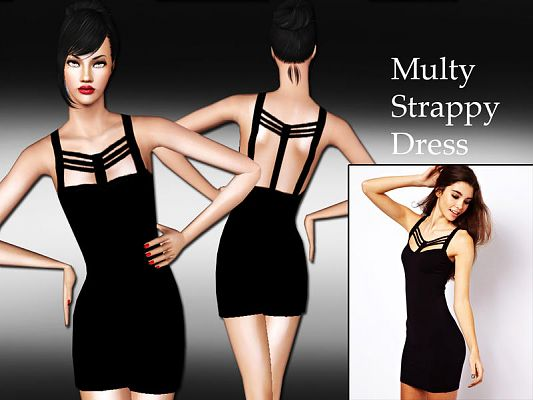 Sims 3 dress, outfit, clothing, female, fashion, sims3