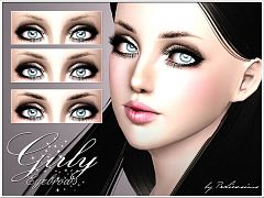 Sims 3 eyebrows, brows, genetics, female, sims3