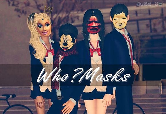 Sims 3 mask, accessory, costume