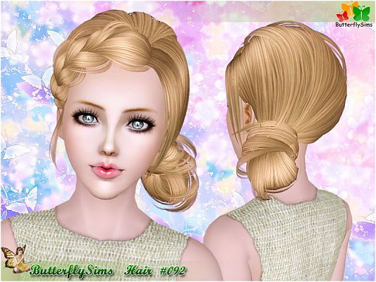 Sims 3 vlasy, účes, žena
