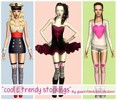 Sims 3 stockings, accessories, female, sims3