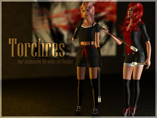 Sims 3 torches, accessory, sims3