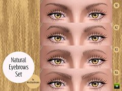 Sims 3 eyebrows, brows, genetics, female, male, sims3
