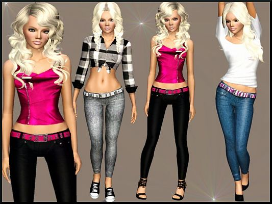 Sims 3 outfit, fashion, clothing, female, jeggins, sims3
