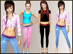 Sims 3 jeans, outfit, clothing, female, fashion, sims3
