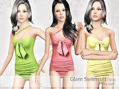 Sims 3 swim, swimwear, outfit, fashion, female
