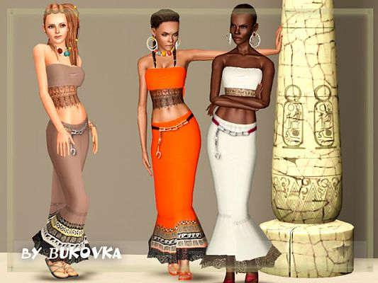 Sims 3 etno, clothes, set