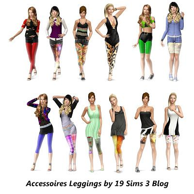 Sims 3 leggings, accessory, fashion