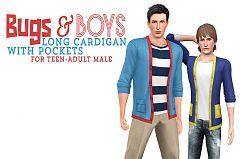 Sims 3 outfit, cardigan, top, clothing, male