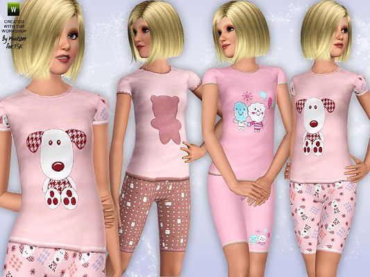 Sims 3 pyjamas, outfit, clothing, female