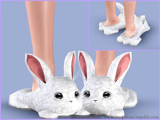 Sims 3 slippers, bunny