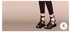 Sims 3 shoes, flats, sandals, fashion, female