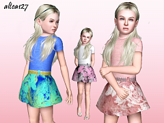 Sims 3 outfit, fashion, clothing, female, dress, child, sims3
