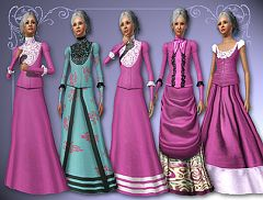 Sims 3 clothes, fashion, historical