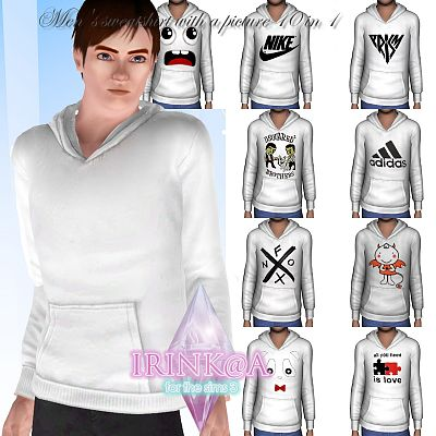 Sims 3 male, outfit,  clothing, sweatshirt, shirt, sims3
