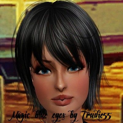 Sims 3 eyes, contact lenses, female, makeup, sims3