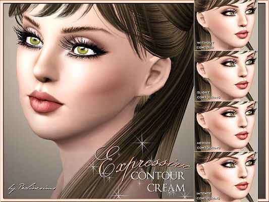 Sims 3 skintone, genetics, blush, costume makeup
