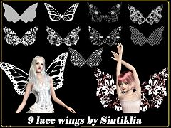 Sims 3 accessories, wings, fashion, female, sims3