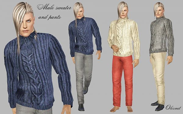 Sims 3 outfit, sweater, top, clothing, male