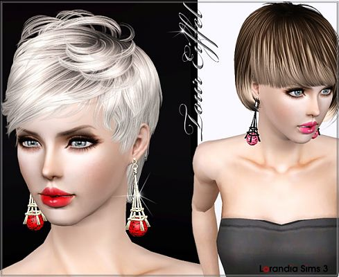 Sims 3 accesories, jewelries, earrings, eiffel tower