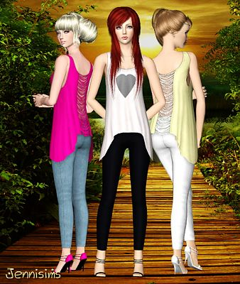 Sims 3 retexture, convertion, clothing