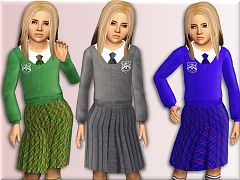 Sims 3 outfit, clothing, fashion, female, child, sims3