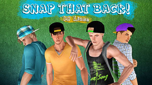 Sims 3 hat, accessory, snapback