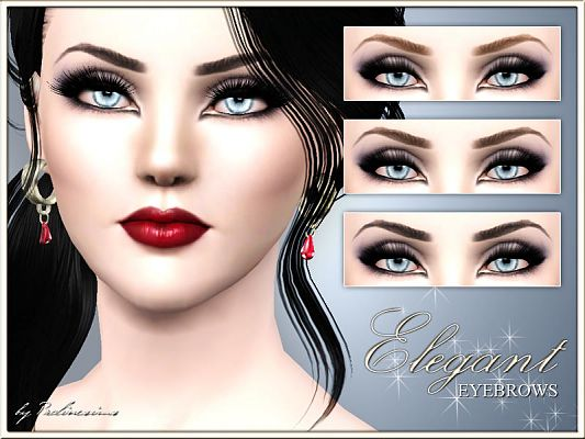 Sims 3 eyebrows, brows, genetics, sims3
