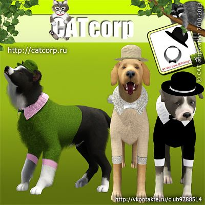 Sims 3 cloth, clothing, outfit, dogs