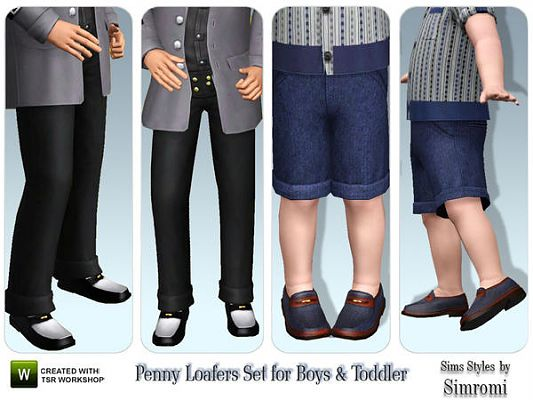Sims 3 pants, loafers, clothinh