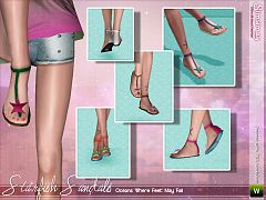 Sims 3 sandals, shoes, flats, female, sims3